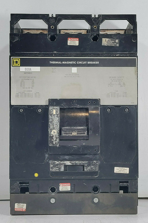 USED SQUARE D MAP36800 THERMAL-MAGNETIC CIRCUIT BREAKER 800A SER. 2