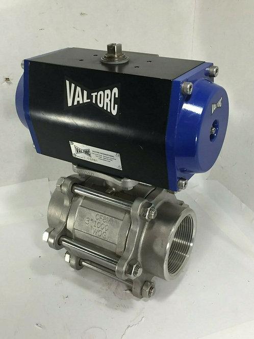 """NEW VALTORC 300SS-3PC-VT100DA DOUBLE ACTUATED 3"""" BALL VALVE"""