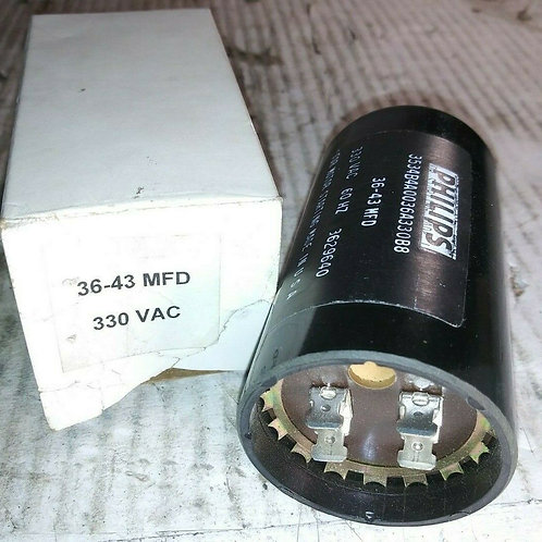 NEW PHILLIPS 3534B4A0036A330B8 CAPACITOR 36-43MFD 330VAC