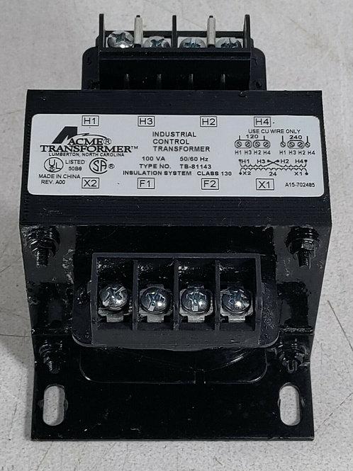 USED ACME TB-81143 INDUSTRIAL CONTROL TRANSFORMER 100VA