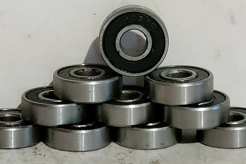 10 NEW UNBRANDED 608RS DEEP GROOVE BALL BEARINGS