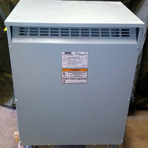 NEW SIEMENS 3F3Y112TP1 DRY TYPE TRANSFORMER 112.5kVA SER. J, REV. A