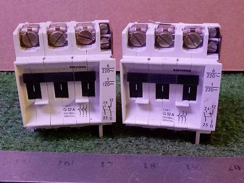 2 USED SIEMENS 5SN7-G32A CIRCUIT BREAKERS