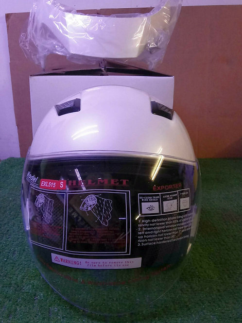 NEW EXL INDUSTRIES EXL-515 PEARL WHITE MOTORCYCLE HELMET SIZE SMALL