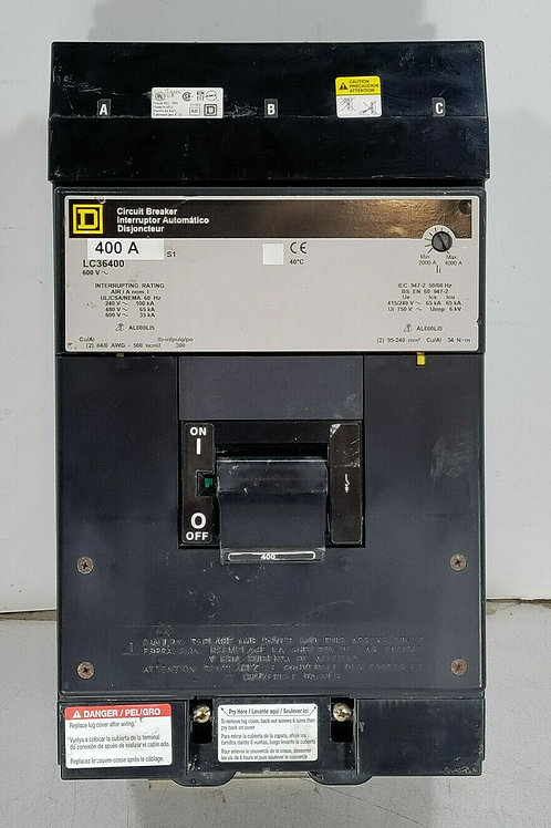 USED SQUARE D LC36400 CIRCUIT BREAKER 400A