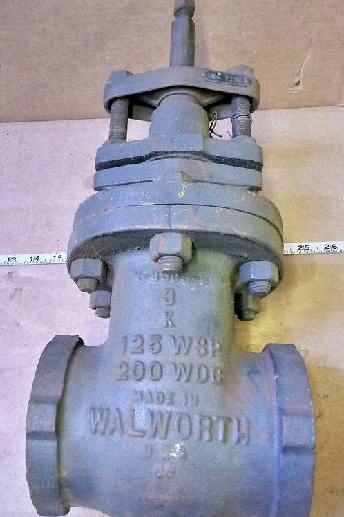 "NEW WALWORTH INICIO V-8809-B 3"" 2-WAY VALVE"