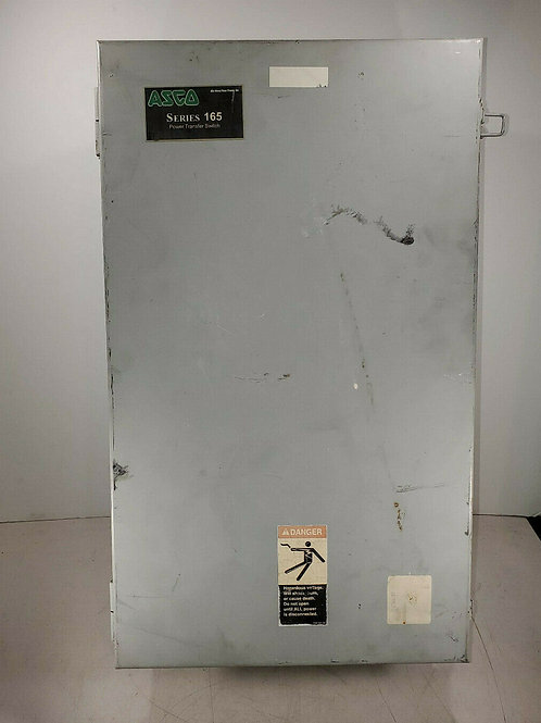 USED ASCO 165A20100 F3XF AUTOMATIC TRANSFER SWITCH 100A