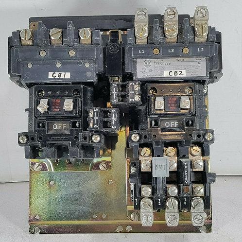 USED ALLEN BRADLEY 505-COD REVERSING STARTER SIZE 2 115-120V SER. B