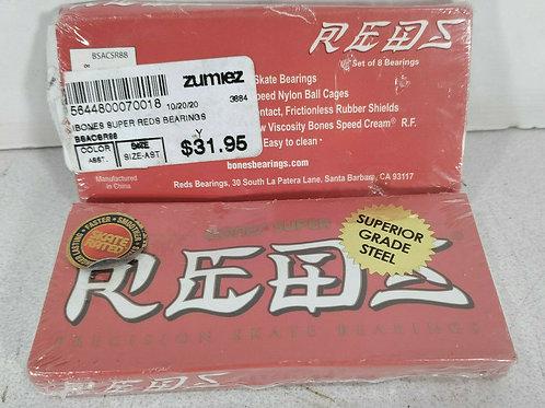16 NEW BONES BSACSR88 SUPER REDS PRECISION SKATE BEARINGS