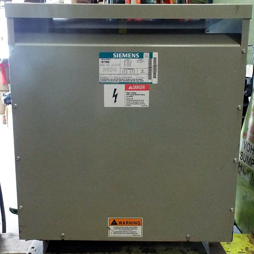 USED SIEMENS 1B1Y050 SINGLE PHASE DISTRIBUTION DRY TYPE TRANSFORMER 50.0 kVA