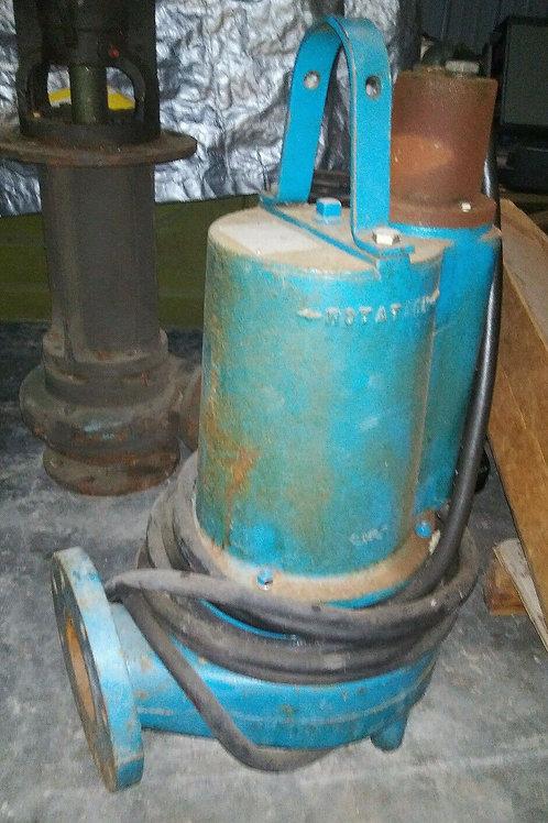 USED BARNES 4SE3744L SUBMERSIBLE SOLIDS HANDLING PUMP 3.7HP