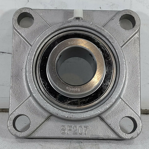 NEW SPINCO SSUCF207-20 CORROSION RESISTANT FLANGE BEARING UNIT