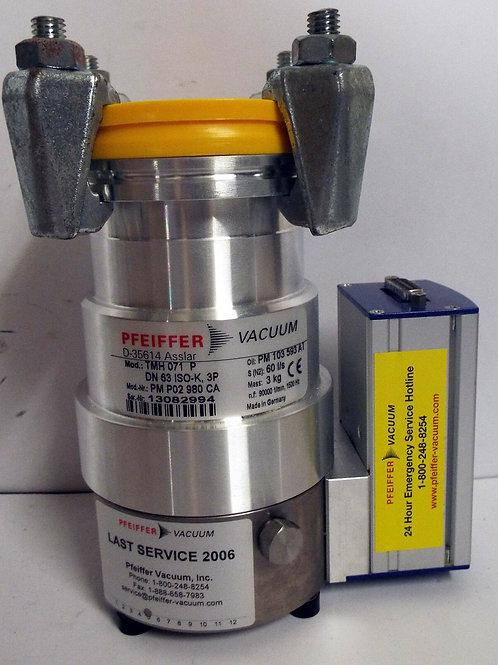 NEW PFEIFFER TMH 071 P DN 63 ISO-K, 3P TURBO VACUUM PUMP w/TC100 VACUUM