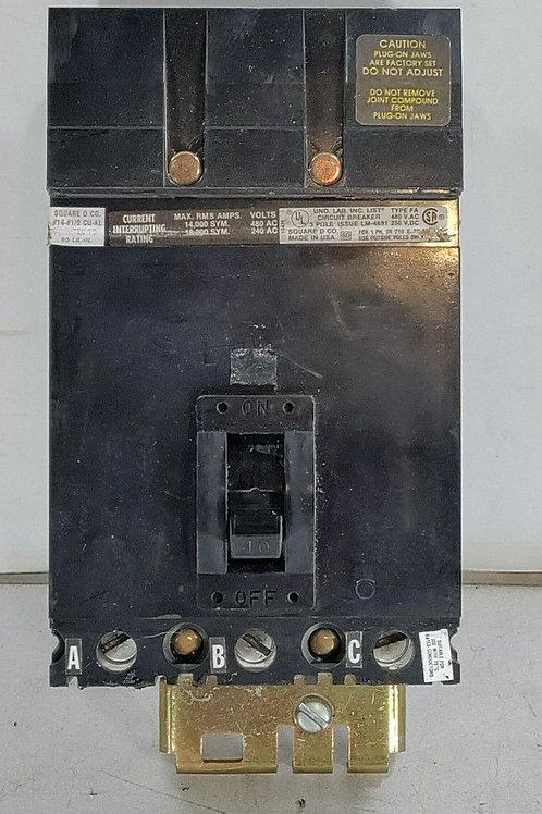 USED SQUARE D FA34040 CIRCUIT BREAKER 40A
