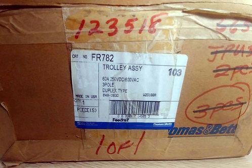 NEW THOMAS & BETTS FEEDRAIL FR782 DUPLEX TROLLEY ASSY 60A