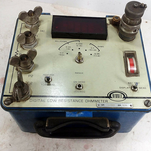 USED BIDDLE 247000 DIGITAL LOW RESISTANCE OHMMETER
