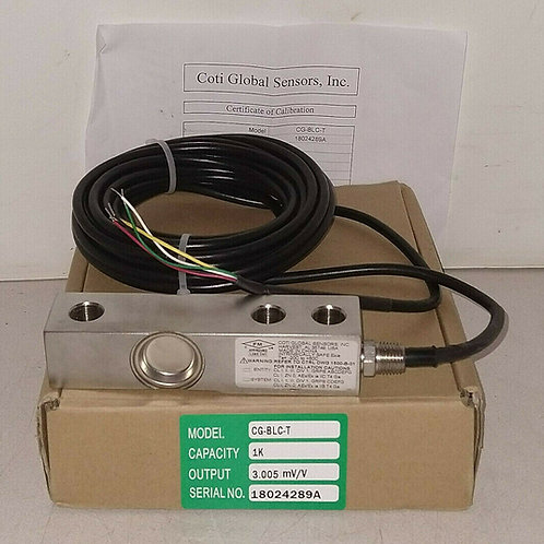 NEW COTI GLOBAL SENSORS CG-BLC-T 1K STAINLESS STEEL WELDED LOAD CELL