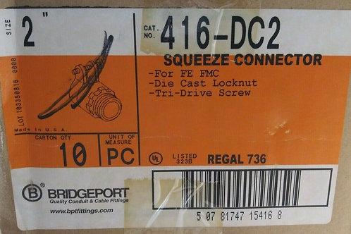 """10 NEW BRIDGEPORT 416-DC2 2"""" SQUEEZE CONNECTORS"""