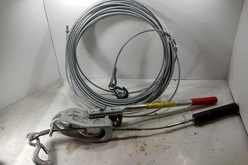 USED LUG-ALL 3008050236 3/4 TON CABLE HOIST W/ CABLE