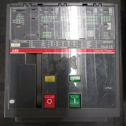 USED ABB SACE PR331/P CIRCUIT BREAKER TMAX T7S 1250 3 POLE 1250A