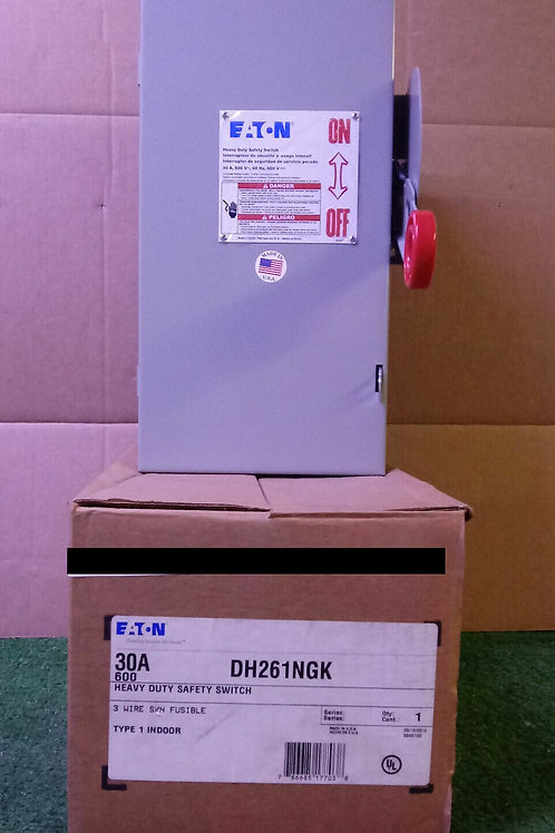 NEW EATON DH261NGK 30A HEAVY DUTY SAFETY SWITCH