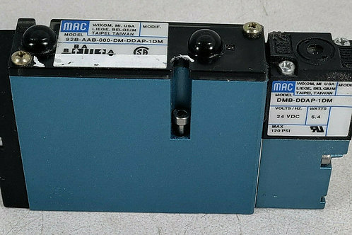 USED MAC 92B-AAB-000-DM-DDAP-1DM SINGLE OPERATOR SOLENOID VALVE