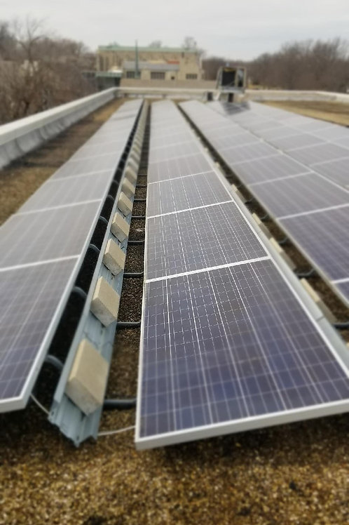 1 USED SOLAR POWER SYSTEM w/ 100+ HANWHA SOLARONE PANELS