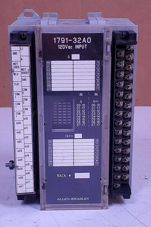 NEW ALLEN-BRADLEY 1791-32A0 Ser B BLOCK I/O INPUT MODULE
