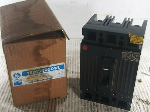 NEW GE TED134050WL TED CIRCUIT BREAKER 3P 480VAC 50A