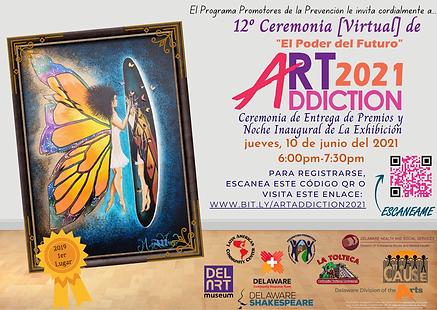 ArtAddiction 2021 Ceremony Flyer (Spanis