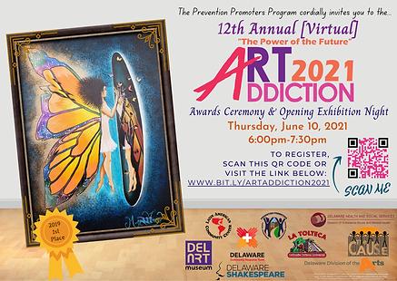 ArtAddiction 2021 Ceremony Flyer (Englis