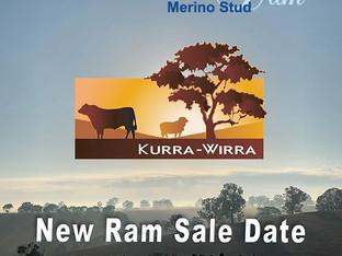 New Ram Sale Date - 4th November 2019