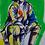 """Thumbnail: 68x89 cm Akryl på papper, """"Paus"""""""