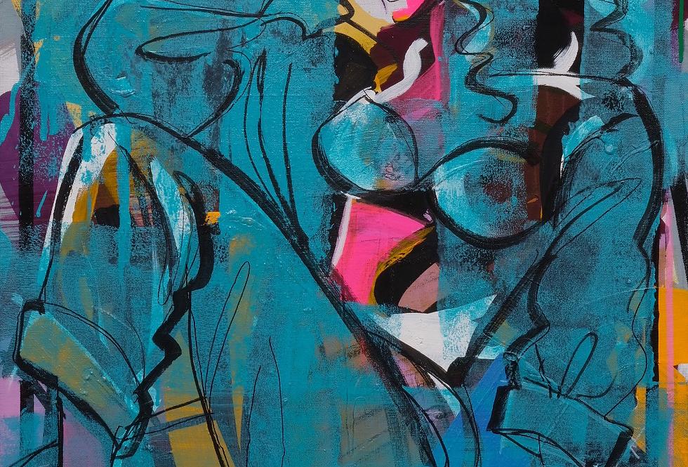 "75x94 cm Akryl på duk, ""Luscious"""