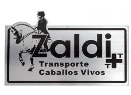 PLACA ZALDI TRANSPORTE