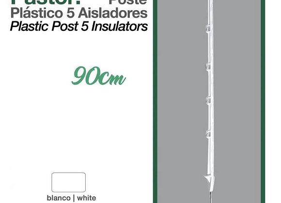 PASTOR: POSTE PLÁSTICO 5 AISLADORES 90cm