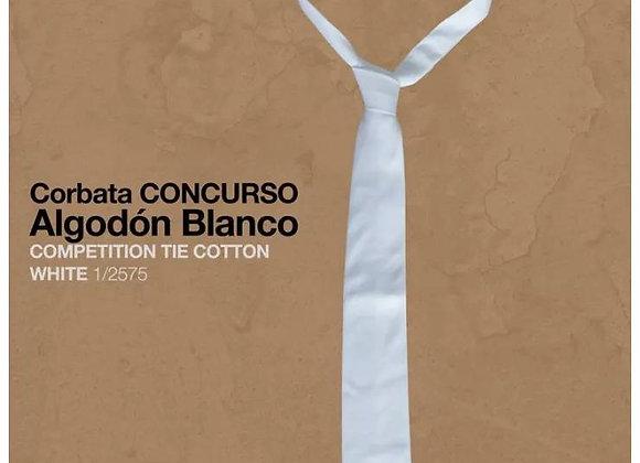 CORBATA CONCURSO ALGODÓN BLANCO
