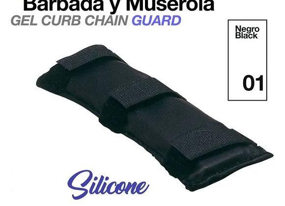 PROTECTOR BARBADA Y MUSEROLA SILICONA NEGRO