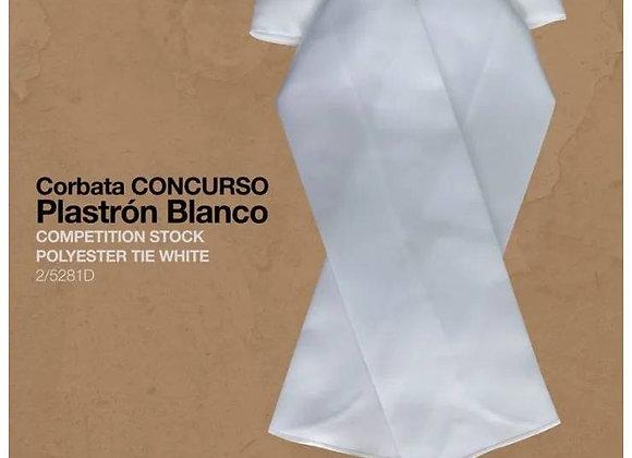 CORBATA PLASTRÓN CONCURSO BLANCO