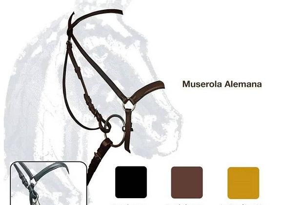 CABEZADA MONTAR MUSEROLA ALEMANA