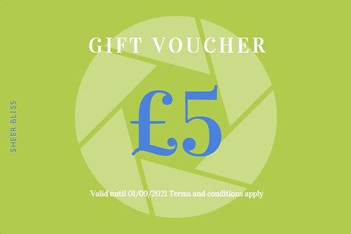Gift Voucher: £5