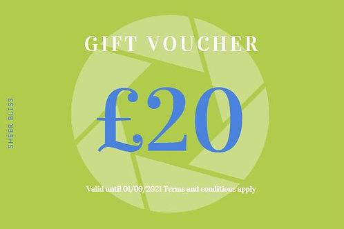 Gift Voucher: £20