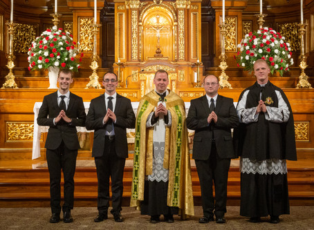 Canons Regular of St. John Cantius Welcome Postulants