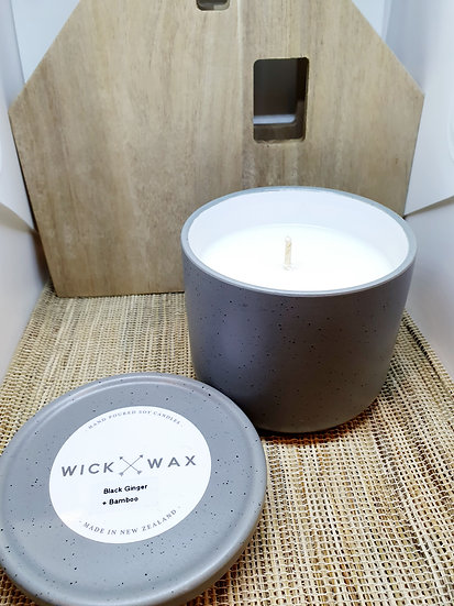Black Ginger + Bamboo Soy Wax Candle (250g)