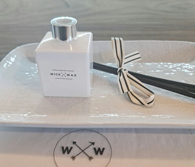 Customise Your Own Diffuser - White Gloss Glass (180ml)