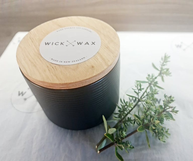 Customize Your Own - Black Linear Soy Wax Candle (300ml)