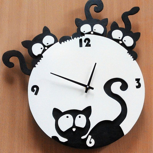 """Часы """"Котики"""""""