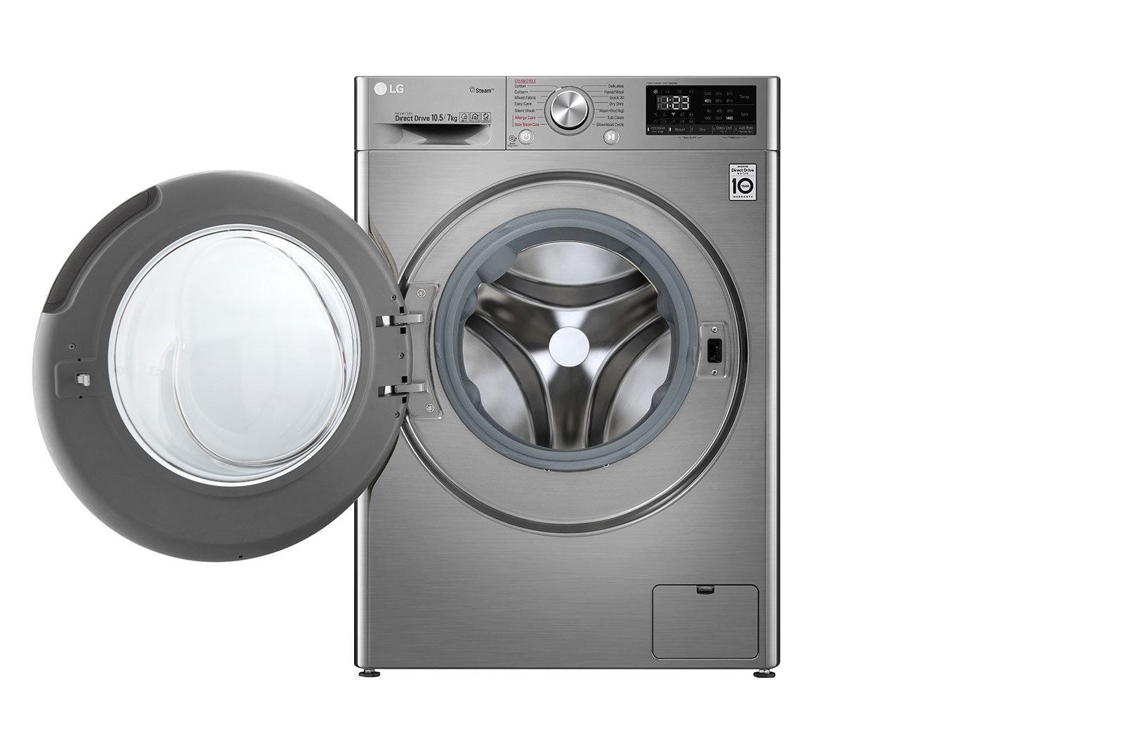 LG Front Load Washing Machine 7Kg/10.5Kg FHD1057STB | Cool World