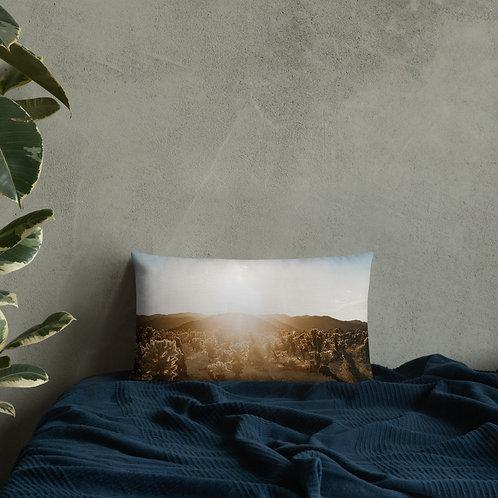 Cactus Gardens Premium Pillow