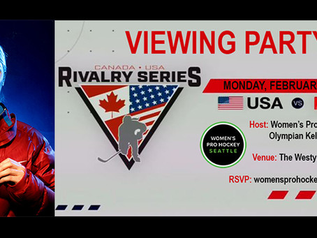 US vs. Canada Rivalry Series Viewing Party with Olympian Kelly Stephens-Tysland